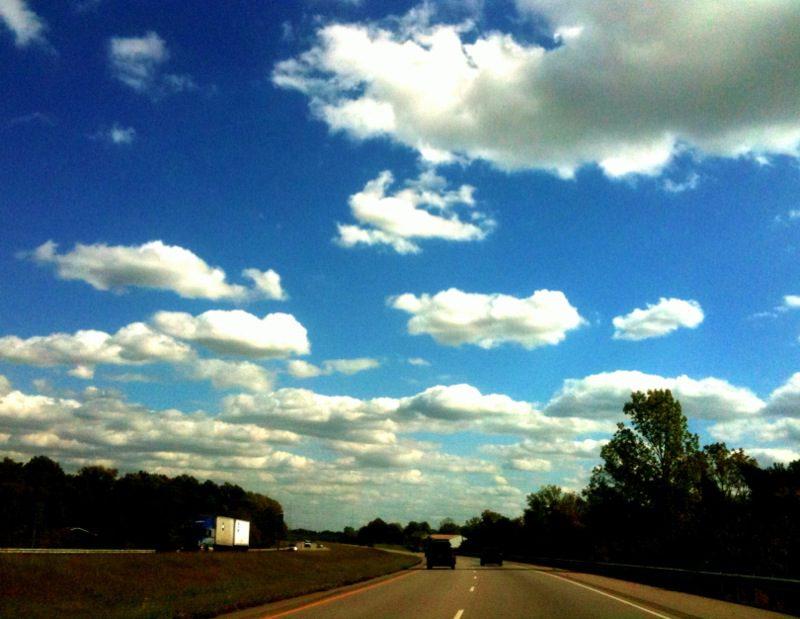 Clear skies. Headed home.