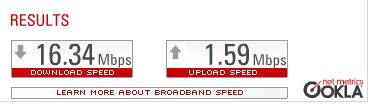 Suddenlink pushing 16mb down in Charleston at home – I like it!