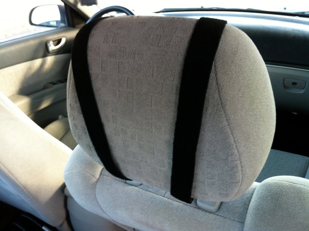 Homemade iPad seat mount for baby Daniel