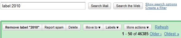 2010 Recap: 46,385 emails