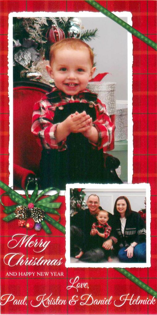Merry Christmas from Kristen, Daniel and Paul Helmick