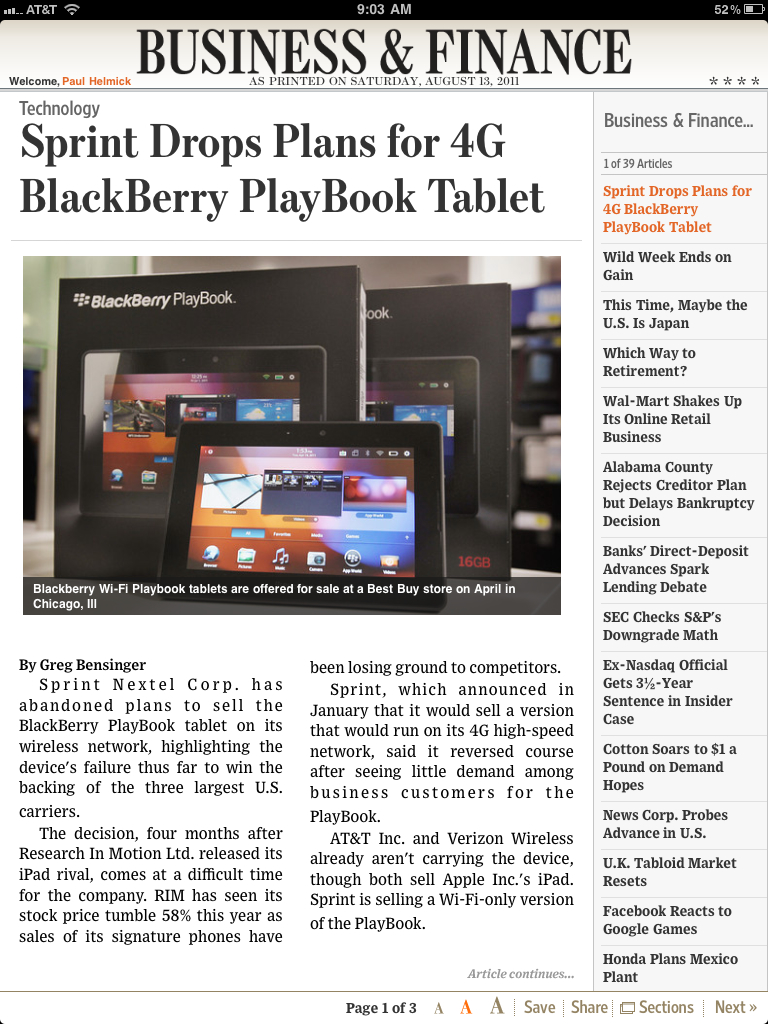 Blackberry's Tablet is Toast… No Carriers will Carry It…