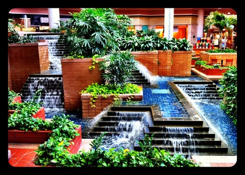Starbucks Waterfall at Town Center Today