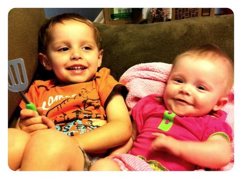 Brother and Sister – all smiles!