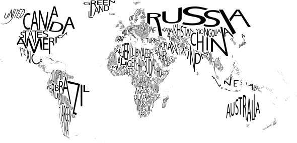 Typographic Map of the World