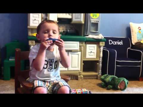 ‪Music Man‬‏ – Daniel plays the Harmonica