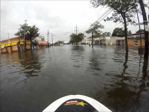 Jet Skiing through Hurricane Irene Flooding in NY
