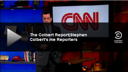 Stephen Colbert riffs on CNN's iReporters with his 'Me Reporters'