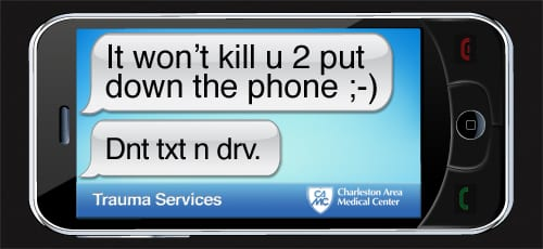 Dnt txt n drv. Great ad by CAMC