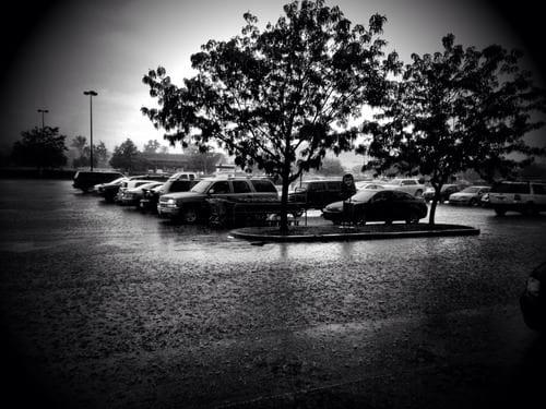 Pouring rain. No umbrella :(