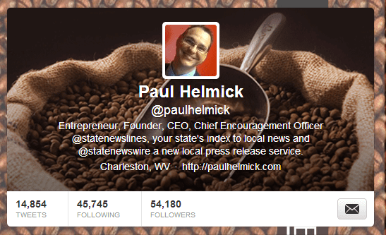 New Twitter Header – What do you think?  Good for a caffeinated entrepreneur?