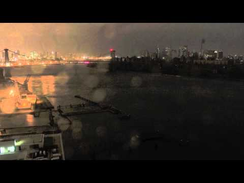 Time Lapse Video New York Hurricane Sandy Lights Out