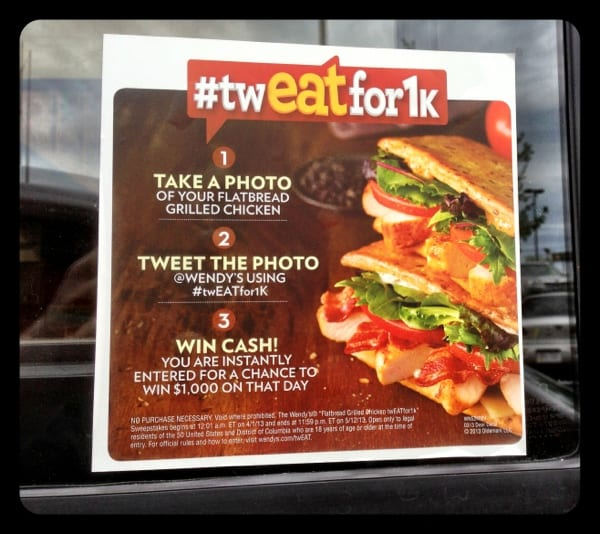 Great example of how @Wendys structures a Twitter promotion #twEATfor1k