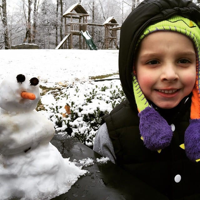 First (little) snowman this year.