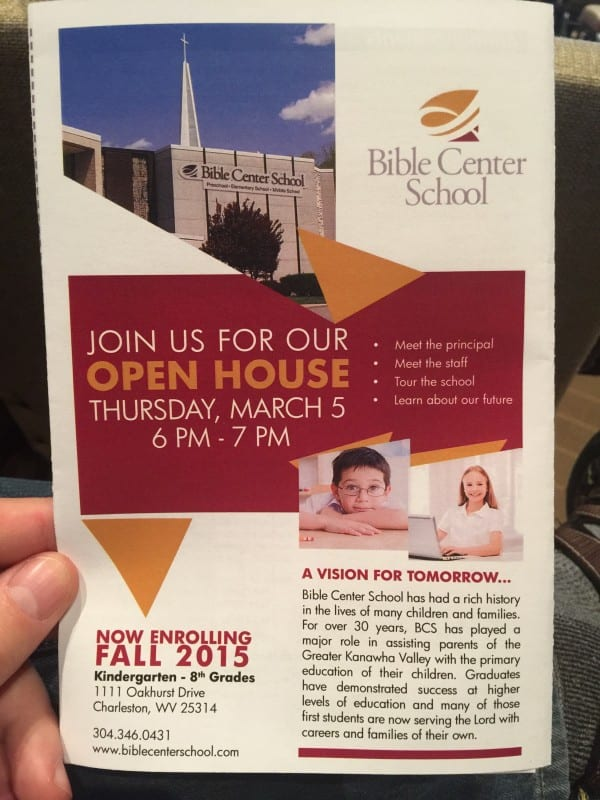 Bible Center School Open House For Fall 2015