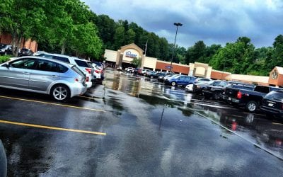 This is where I park now – back of the lot