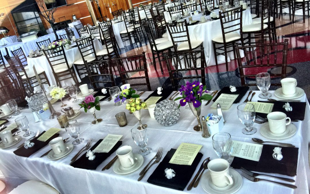 Beautiful Dinner Setup at Clay Center