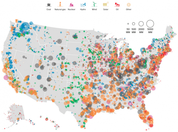 United States Electricity Map