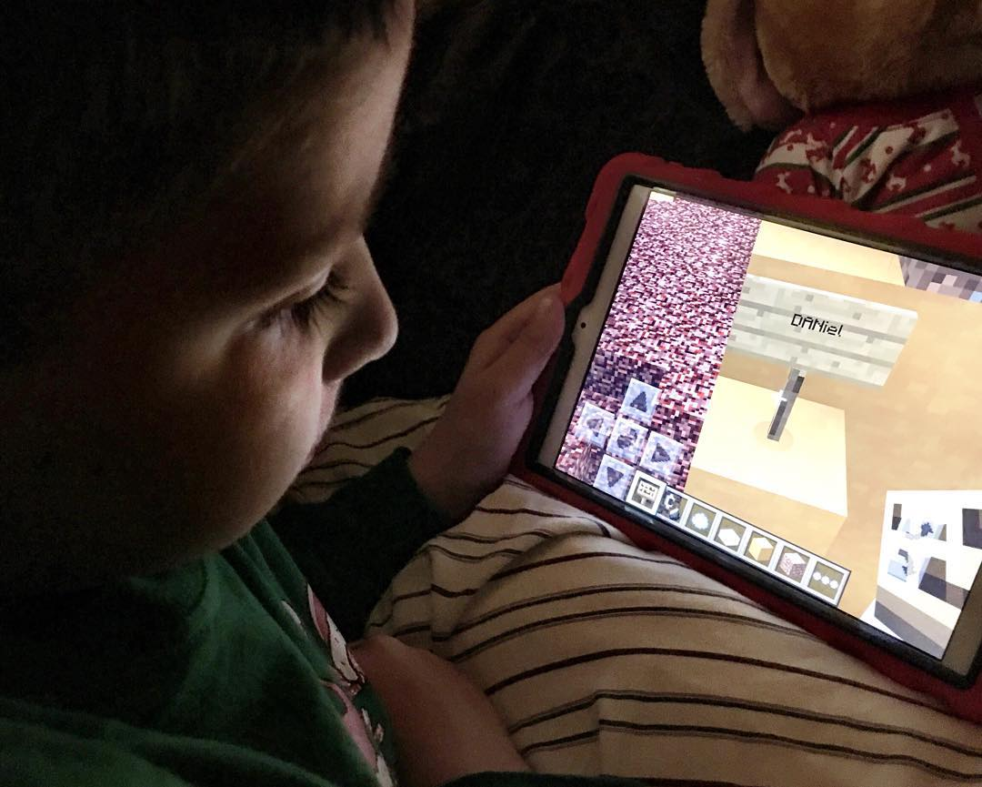 Daniel made his first sign in Minecraft and put his name on it!