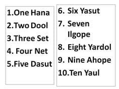 Count to Ten in Korean